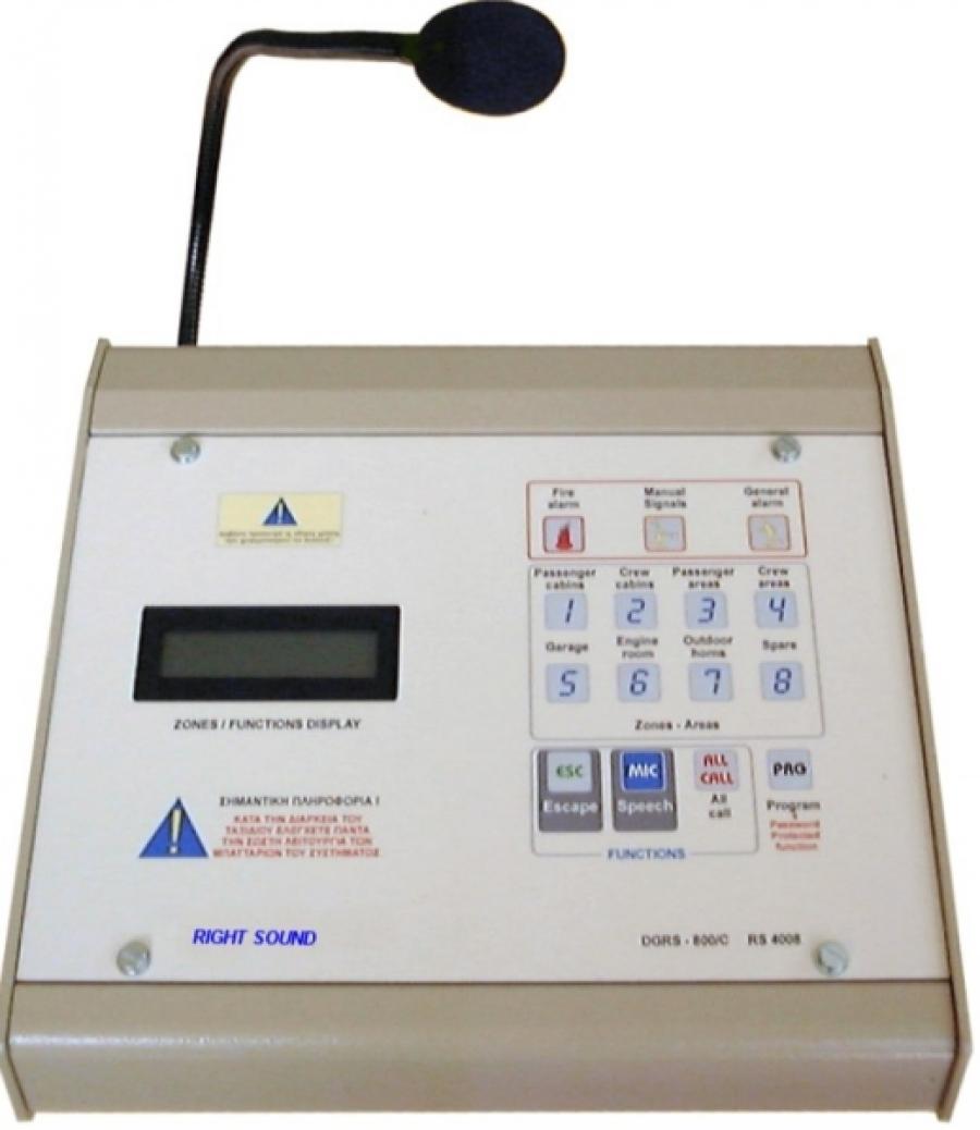 Ψηφιακή κονσόλα 8 ζωνών RS 4008