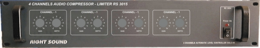 Audio compressor - Limiter 4 channels RS 3015