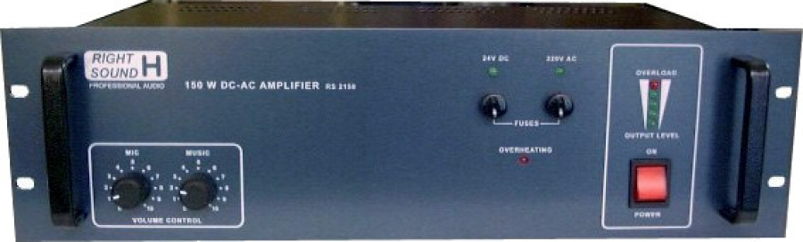 Ενισχυτής 2 εισόδων Dc-Ac 150W/100V με Fault RS 215E