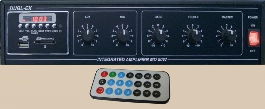 ΜΙΚΡΟΦΩΝΙΚΟΣ ΕΝΙΣΧΥΤΗΣ 50W ΜΕ Mp3 player και Tuner  MD 50W-220V